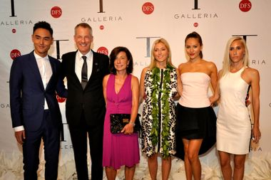 Ethan Ruan, Philippe Schaus, Claire Schaus, Princess Marie-Chantal of Greece, Jessica Michibata and Alexandra von Furstenberg at the unveiling of T Galleria in Hawaii