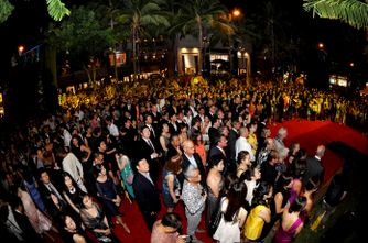 Celebrities and VIP guests walk the red carpet at the unveiling of T Galleria in Hawaii