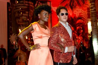 Shingai Shoniwa and Dan Smith of The Noisettes at the unveiling of T Galleria in Hawaii