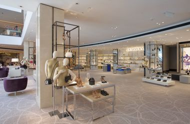 With over 50 men's and women's shoe brands across two floors, including exclusive-to-Macau brands such as Aquazzura and Rupert Sanderson, the shoe hall is the largest shoe floor in Hong Kong and Macau and a destinat