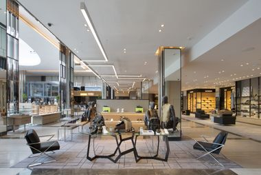 Men can also enjoy a dedicated multi-branded, lifestyle area that mixes ready-to-wear, accessories, shoes, watches and grooming all in one space to allow shoppers to complete a head-to-toe look with ease