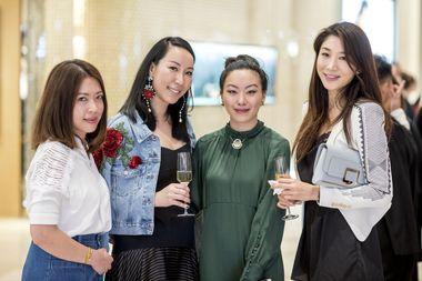 Alisha Lam and socialite Ruth Chao with their friends
