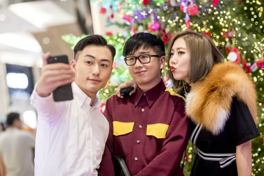 Fashion's Digital Darlings Charles Lam, Declan Chan and Faye Tsui doing what they do best