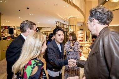 Mr Bags meets Melco's Frederic Winckler