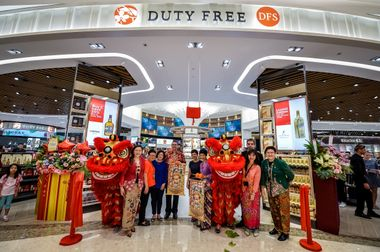 DFS Terminal 4 Store Opening - DFS and CAG Officials
