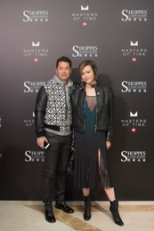 Actor & Socialite Michael Wong and Janet Ma pose for a photo