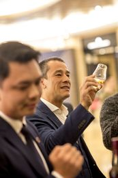 Carl Ng enjoys a guided Macallan tasting