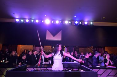 Violinist and DJ Olivia Dawn performing