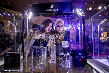 Guests marvel at the 450 fine watch and jewelry pieces from over 30 brands featured