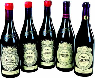 Masi 5 Vintages of Amarone Costsera with Tempo Costasera watch