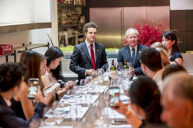 Thibault Pontallier, Asia Brand Ambassador Château Margaux, walked VIP guests through a vertical tasting across decades of Château Margaux's storied history