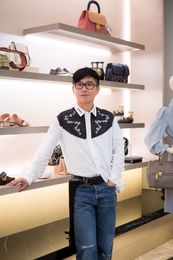 Declan Chan with his Fall selects inspired by the Garden Party