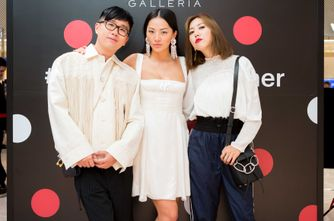 The Fashion event's co-hosts_ Faye Tsui, Tina Leung and Declan Chan