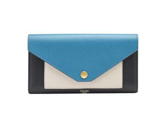 Celine Pocket Multifunction in Teal Blue Shiny Smooth Calfskin