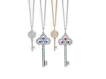 Tiffany & Co. Tiffany Keys Fleur de Lis Key Pendant
