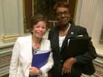 Valerie Jarrett and MC's Shawn Harrison